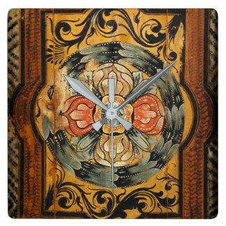 hist gótico velho do vintage de madeira medieval relógio para parede