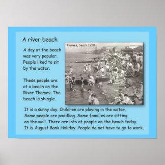 História, 1950, dia de A na praia Posters