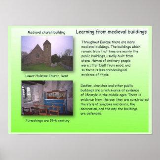 História, aprendendo das construções medievais poster