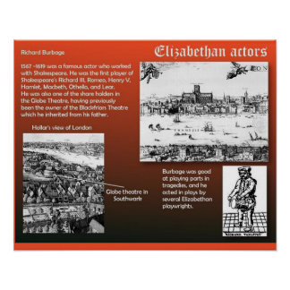 História, atores Isabelinos do teatro Poster