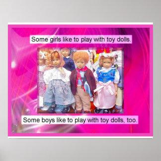 História, brinquedos no passado, bonecas poster