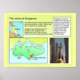 História, colônia em Singapore Posters