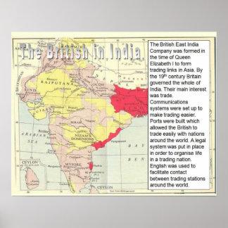 História, colonização, britânica em India Posteres
