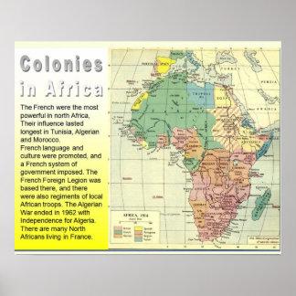 História, colonização, colônias em África Poster