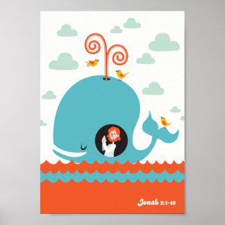 História cristã Jonah da bíblia do poster e a