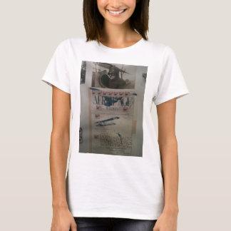 História da aviação da letra do vintage camiseta