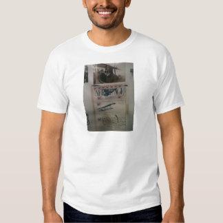 História da aviação da letra do vintage camisetas