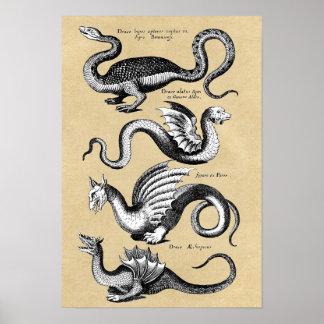 História da carta da parede dos dragões poster