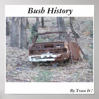 História de Bush pelo traço ele Posters