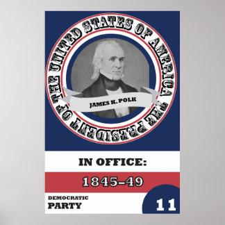 História de James K. Polk Presidencial Pôster