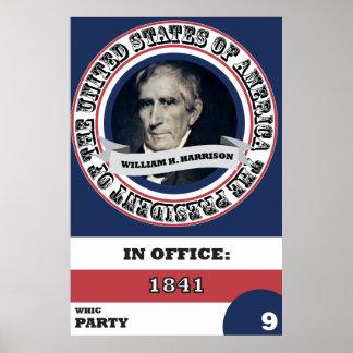 História de William H. Harrison Presidencial Pôster