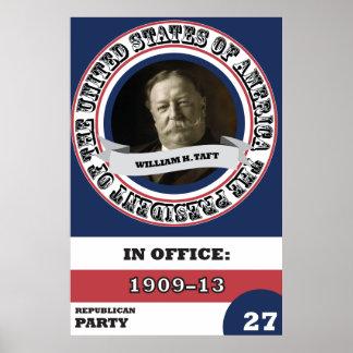 História de William H. Taft Presidencial retro Pôster
