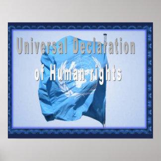 História, direitos humanos, declaração & poster