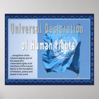 História, direitos humanos, declaração pôster