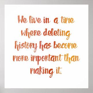 História do fazer pôster