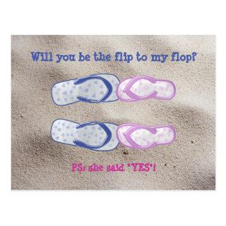 história do flip-flop cartoes postais