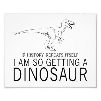 História e dinossauros impressão de foto