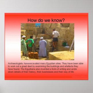 História, Egipto antigo, arqueologia Pôsteres
