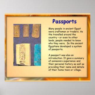 História, Egipto antigo, passaportes egípcios Pôster