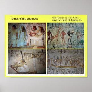 História, Egipto antigo, túmulos do Pharoahs Poster