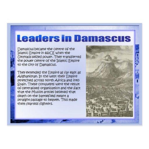 História, elevação do Islão, líderes em Damasco Cartao Postal