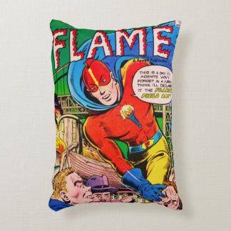 História em quadrinhos da chama almofada decorativa