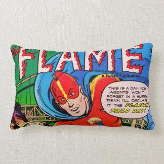 História em quadrinhos da chama travesseiros de decoração