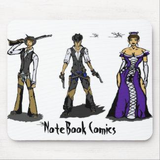 História em quadrinhos do caderno mousepad