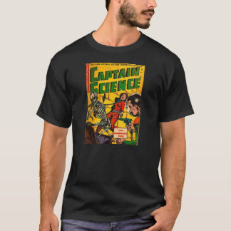 História em quadrinhos do vintage: Capitão Ciência Camiseta
