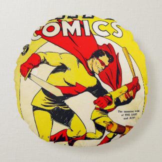 História em quadrinhos estranha almofada redonda