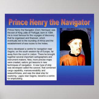 História, exploração, príncipe Henry o navegador Posters