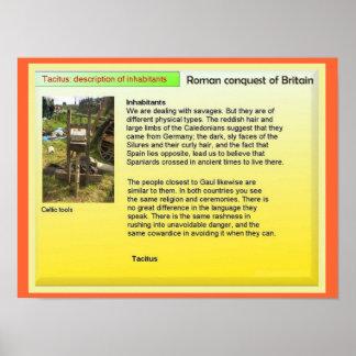 História, Grâ Bretanha romana, habitantes de Tacit Poster