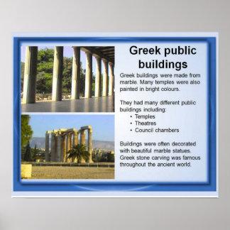 História, gregos clássicos, construções públicas g impressão
