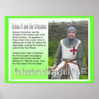 História, guerra e paz, cruzadas, poster