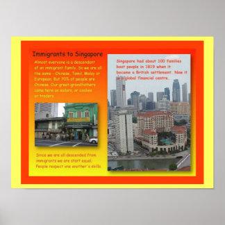 História, imigrantes a Singapore Poster
