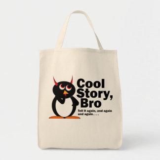História legal má Bro de Penguin™! Sacola Tote De Mercado