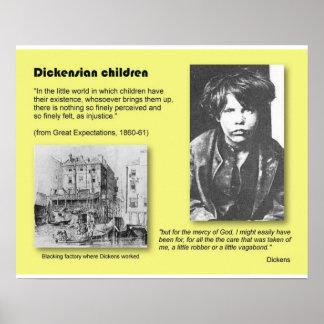 História, literatura, Dickens, crianças de Pôster