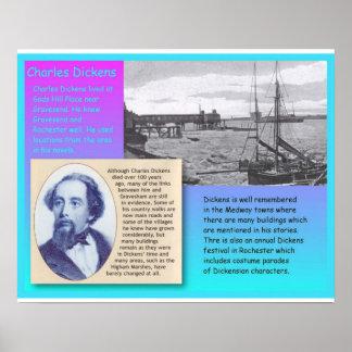 História, literatura, Dickens em Kent Pôsteres