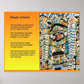 História Meso'America, arte maia Poster