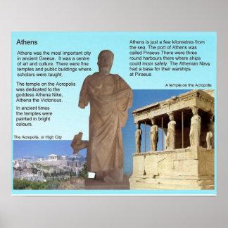 História, piscina antiga, Atenas Poster