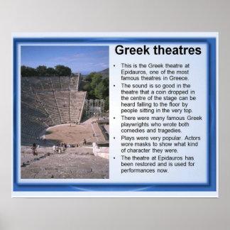 História, piscina antiga, teatros pôster
