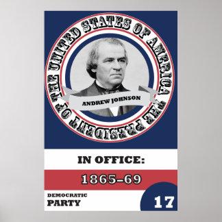 História presidencial de Andrew Johnson Pôster