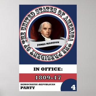 História presidencial de James Madison Pôster
