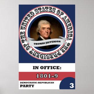 História presidencial de Thomas Jefferson Pôster