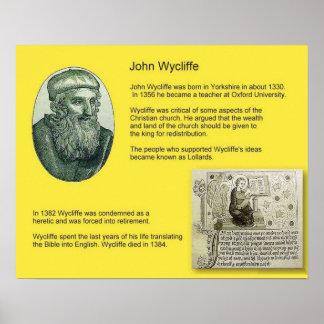 História, reforma, John Wycliffe Poster