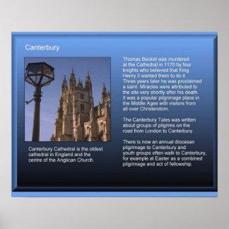 História, religião; Canterbury Poster
