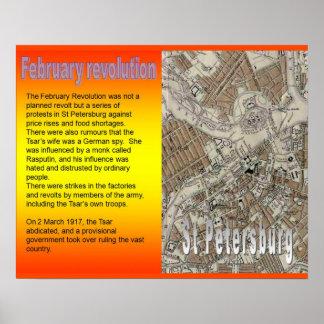 História, Rússia, revolução de fevereiro da Poster