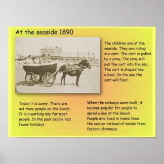 História, século XIX, no beira-mar Poster