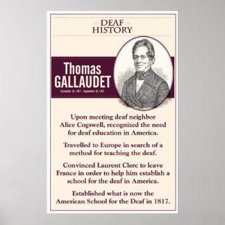 História surda. Thomas Gallaudet. Pôster
