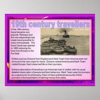 História, viagem do século XIX Posters